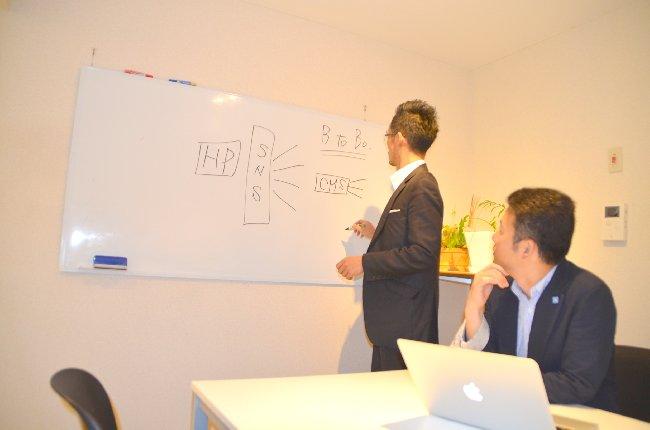 ホームページ制作のミーティング。