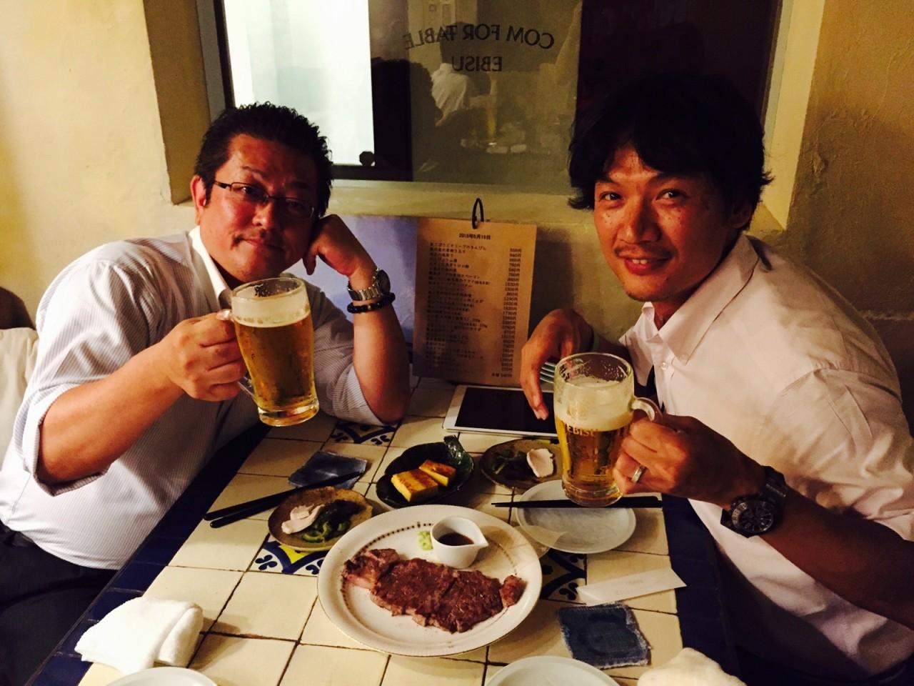 岐阜県のパートナー会社さんと食事。