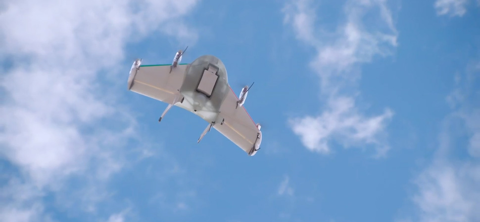 Googleの無人機プロジェクトProject Wingがテスト飛行に成功!