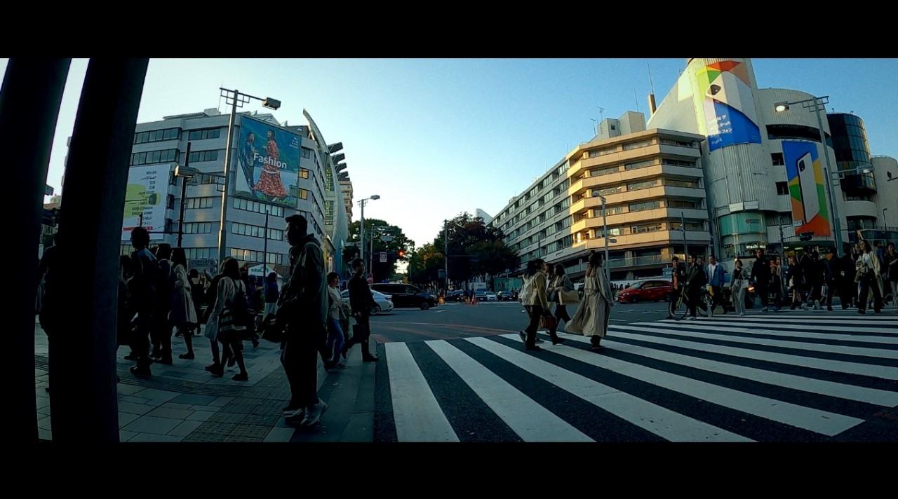 ゴープロ8のタイムワープ(TimeWarp)映像 / 表参道の昼と夜