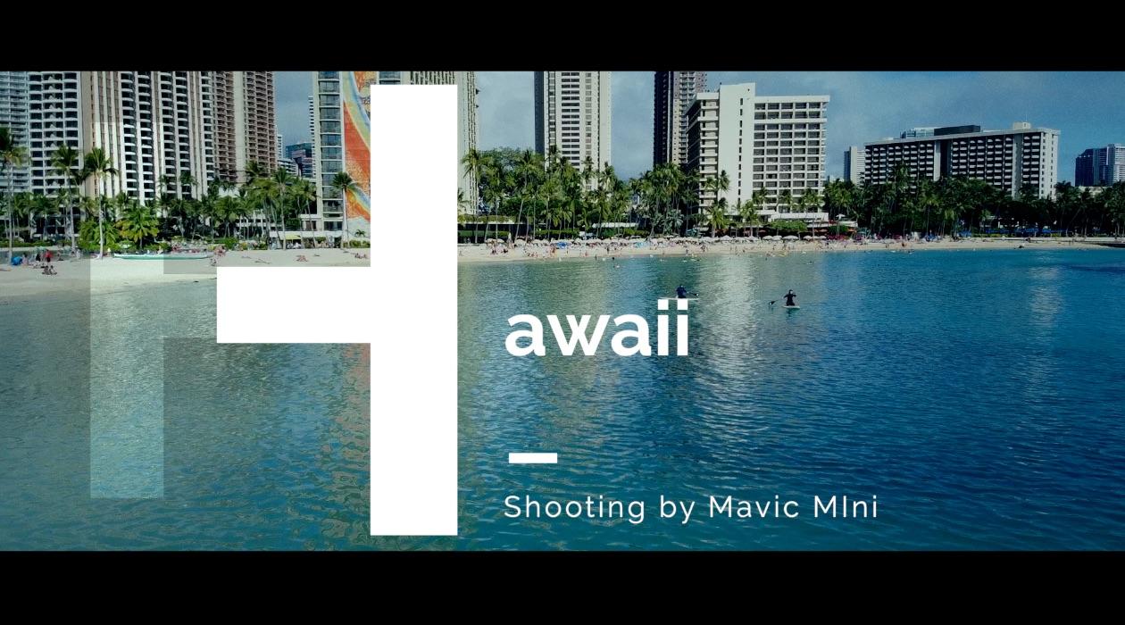 マビックミニ (Mavic Mini) / ハワイドローン撮影
