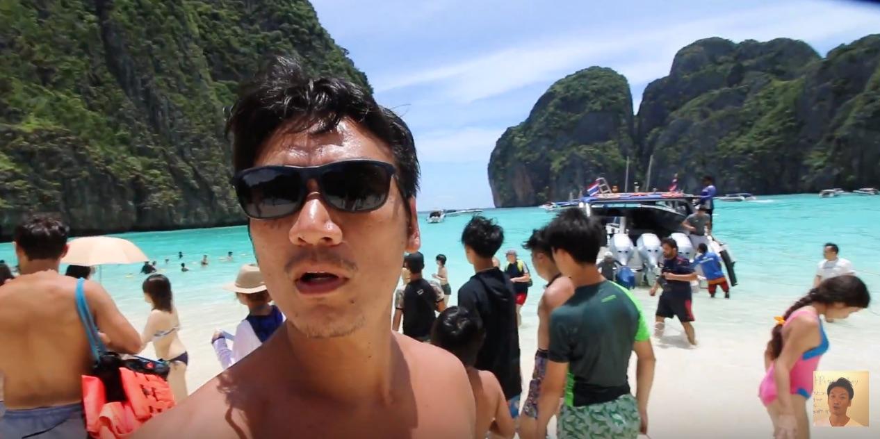 プーケット3日目 ピピ島巡りを船でしてみました。